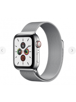 Apple Watch Series 5 GPS + Cellular, Stainless Steel Case with Stainless Steel Milanese Loop